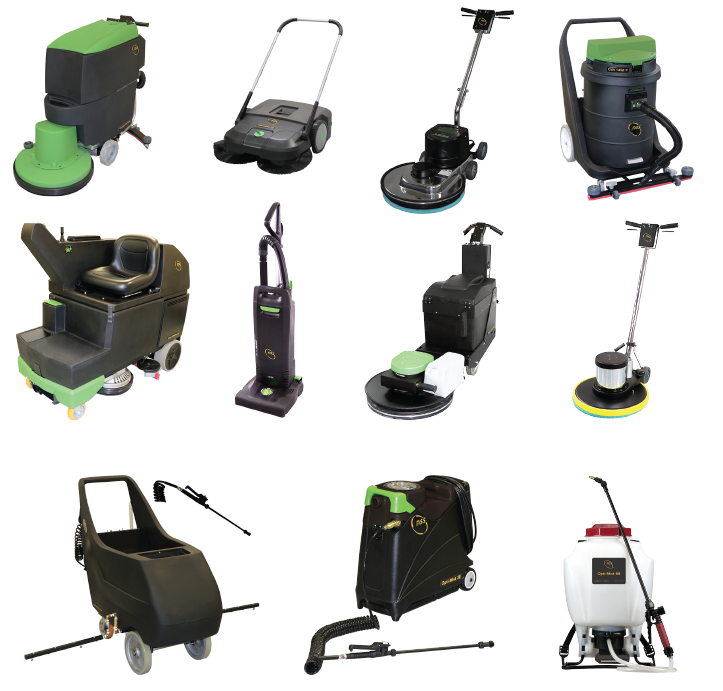 Professional floor scrubbers, vacuum cleaners, carpet extractors, floor machines, wet dry vacuums, burnishers